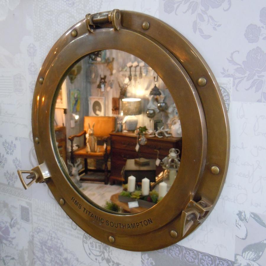 Copper Porthole Mirror