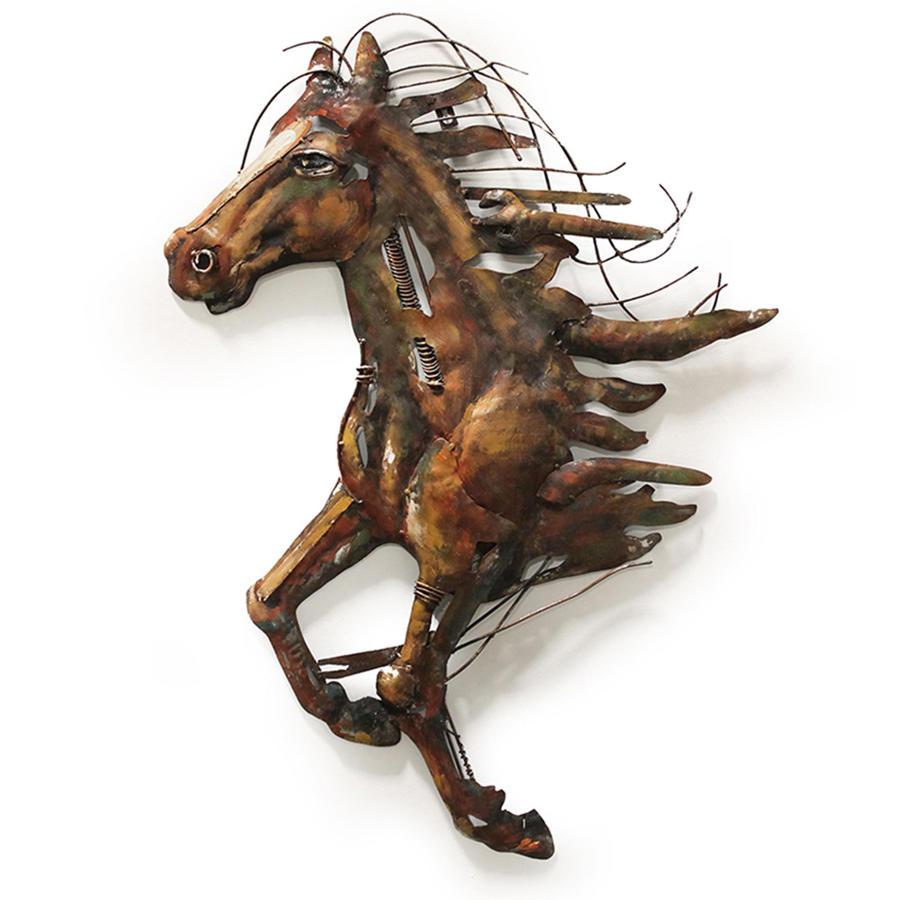 Abstract metal horse wall art