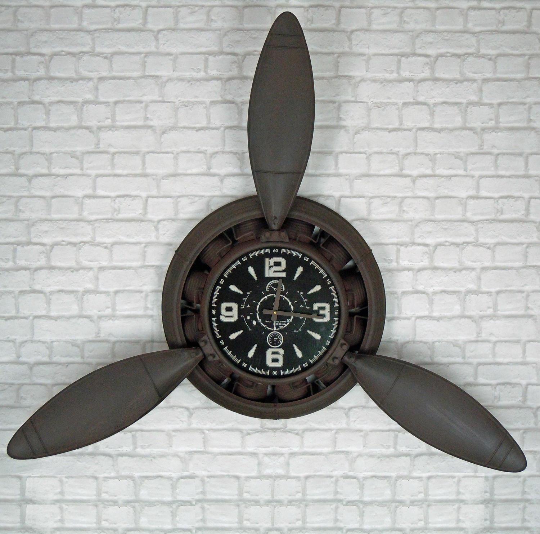 Industrial metal Propeller wall clock