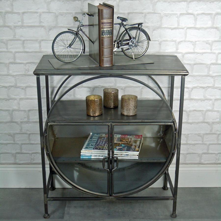 Industrial metal retro display cabinet