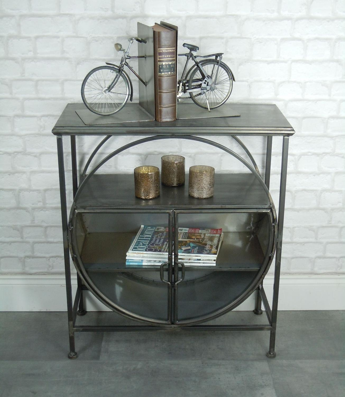 Industrial metal retro display cabinet