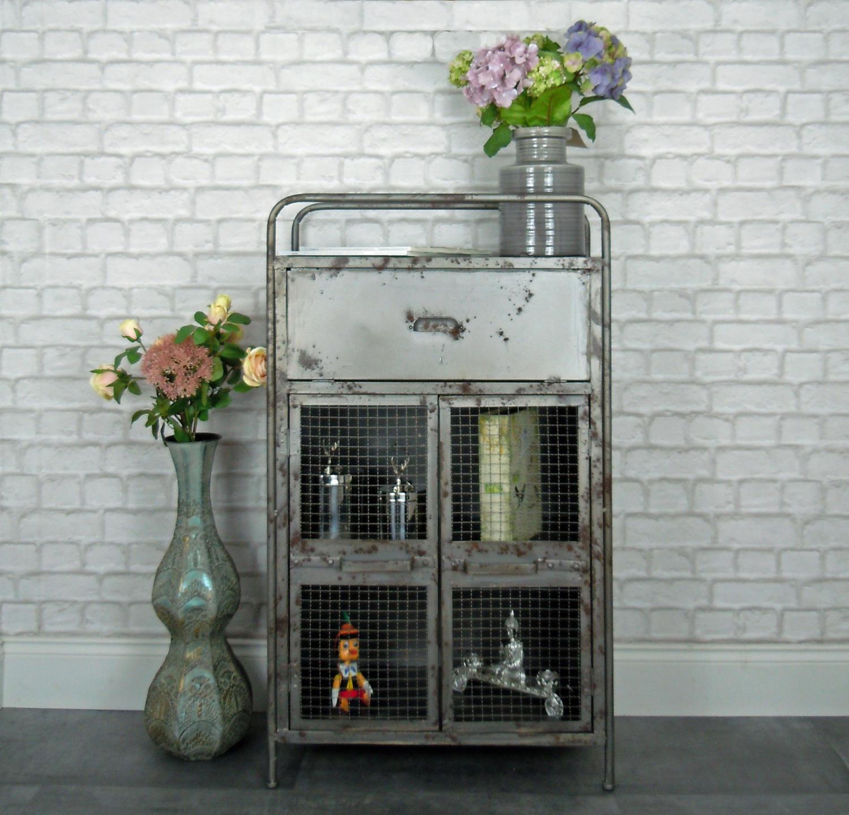 Urban style metal industrial cabinet