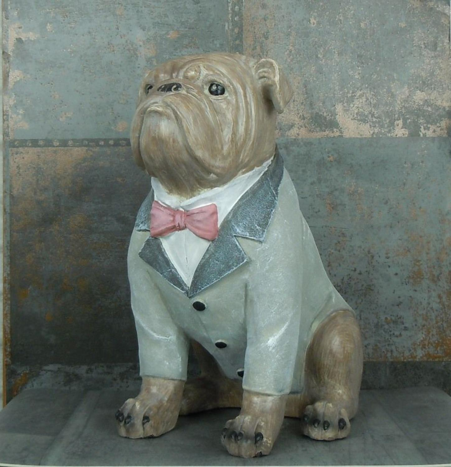 British Bulldog in a suit