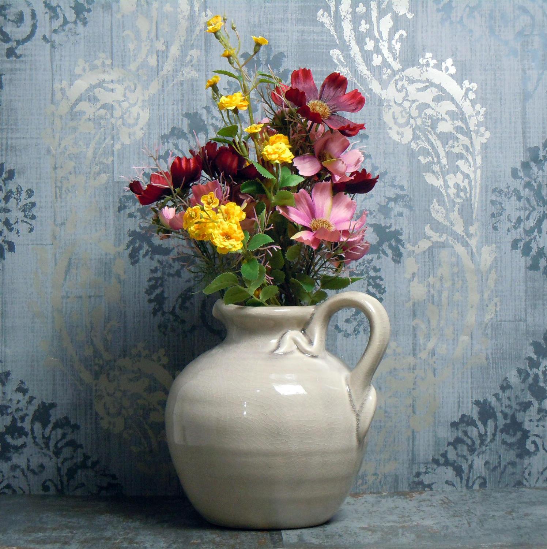 Crackle glaze ceramic jug