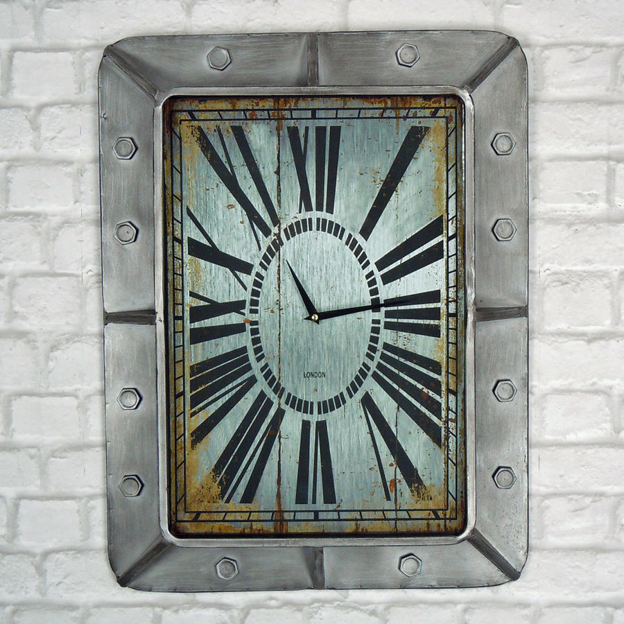 Industrial Metal wall clock