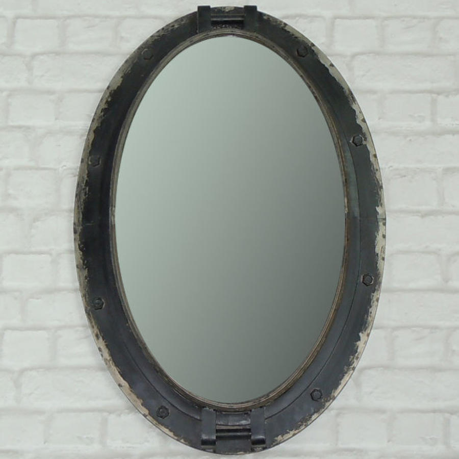 Oval Industrial porthole mirror
