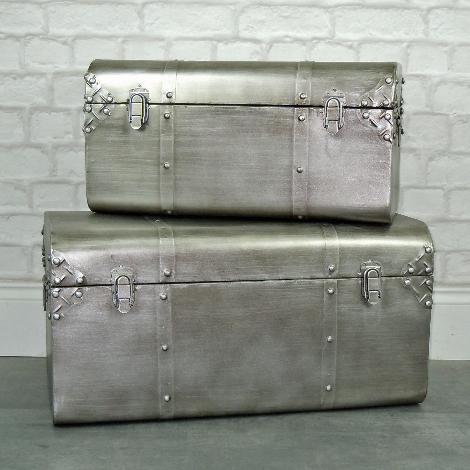 Industrial metal trunks