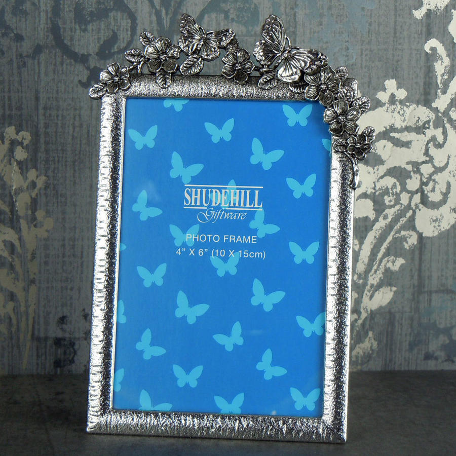 Pewter Butterfly photo frame
