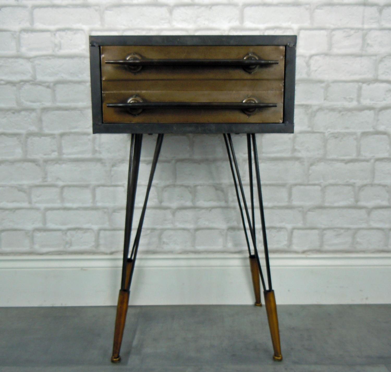 Metal bedside cabinet