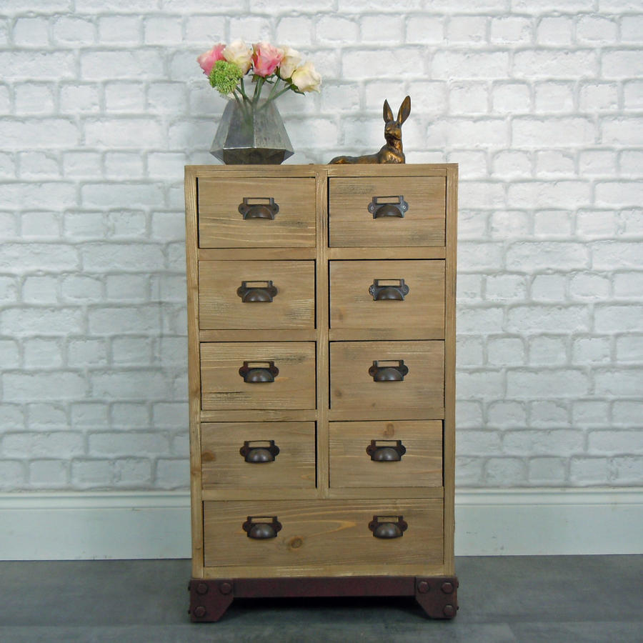 Nine drawer cabinet