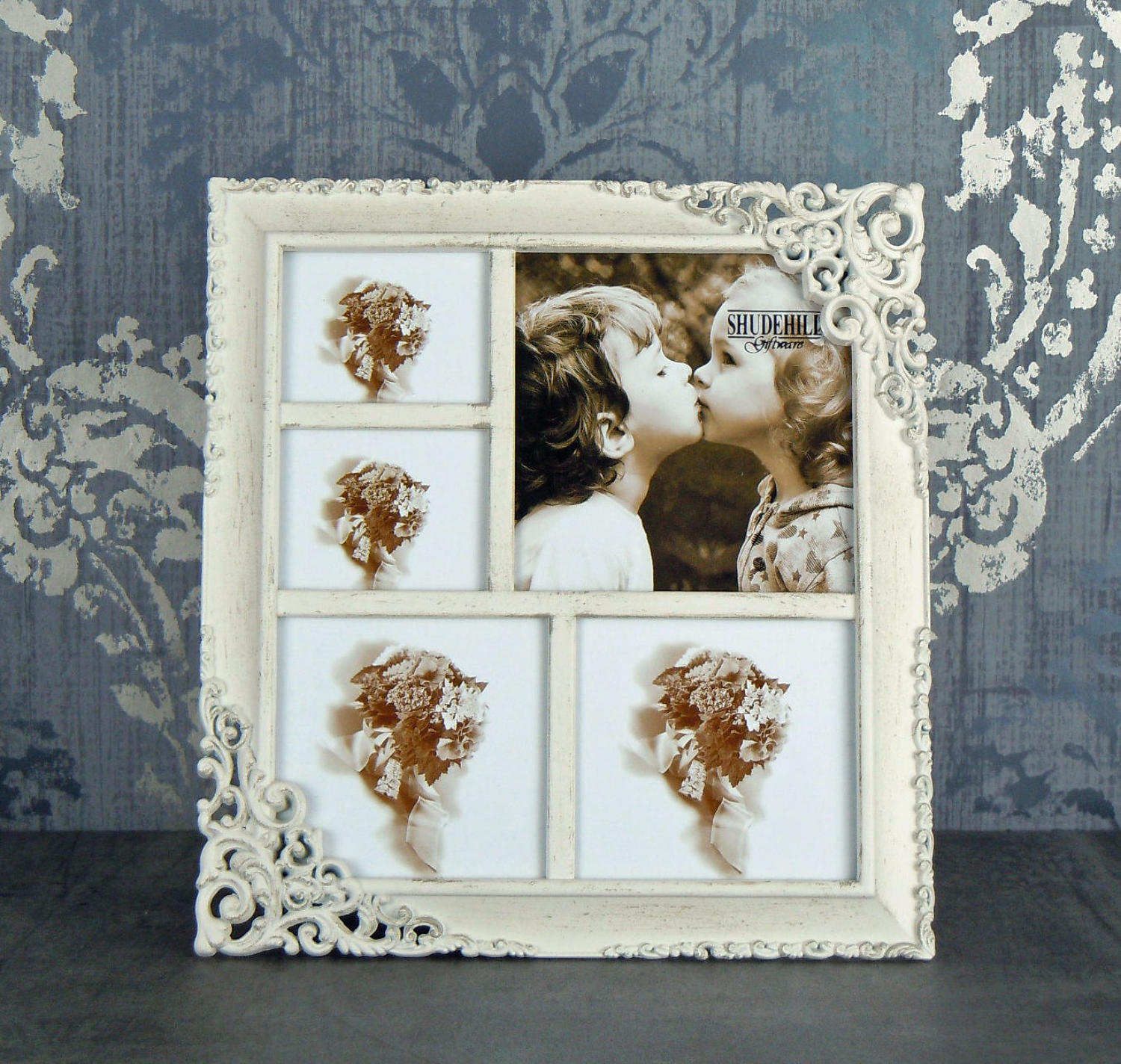 Cream Lace multi photo frame