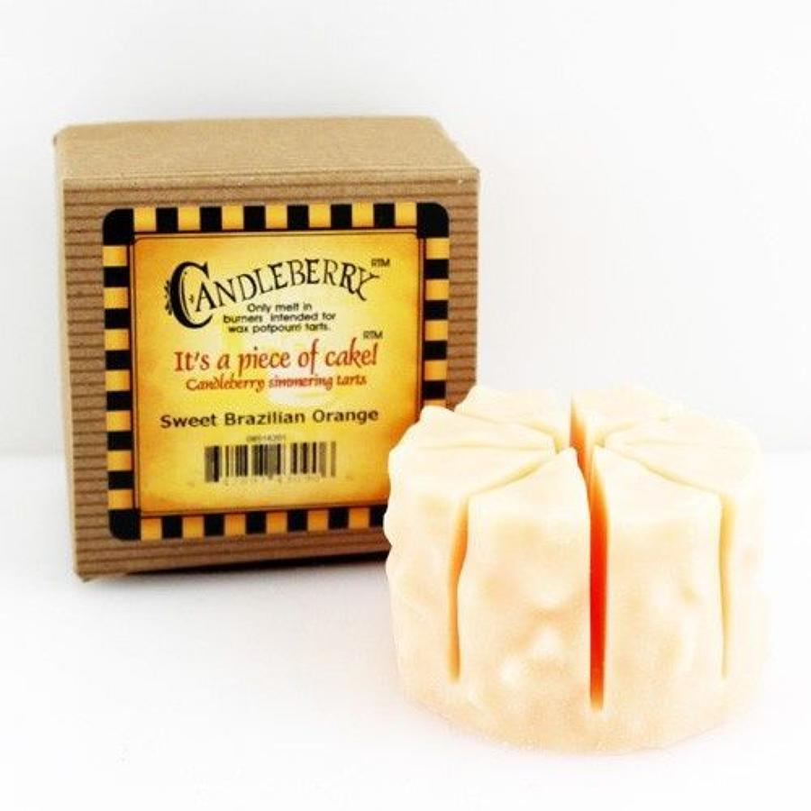 Candleberry Sweet Brazilian Orange Essential Oil cake wax melt
