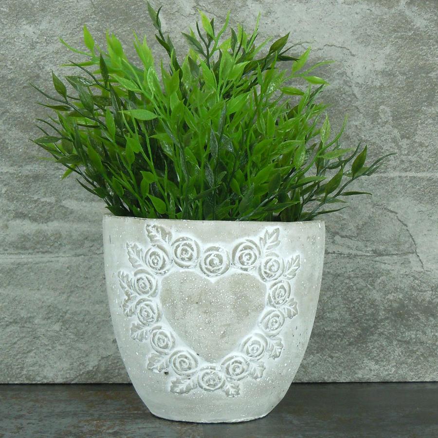 Stone Heart plant pot