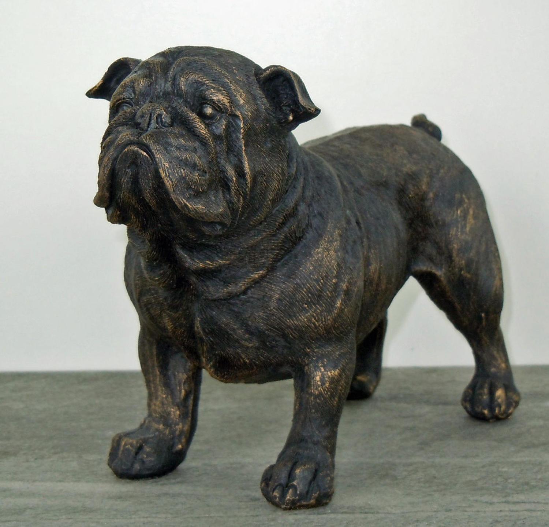 Standing Antique Bronze British Bulldog