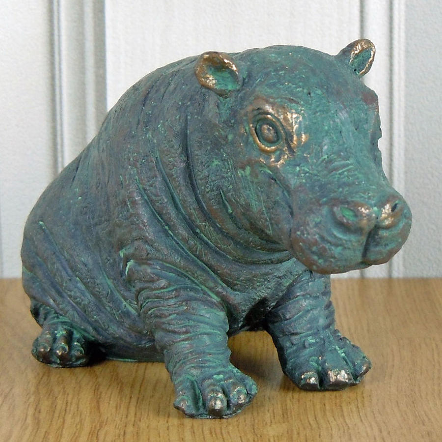 Bronze effect Hippo