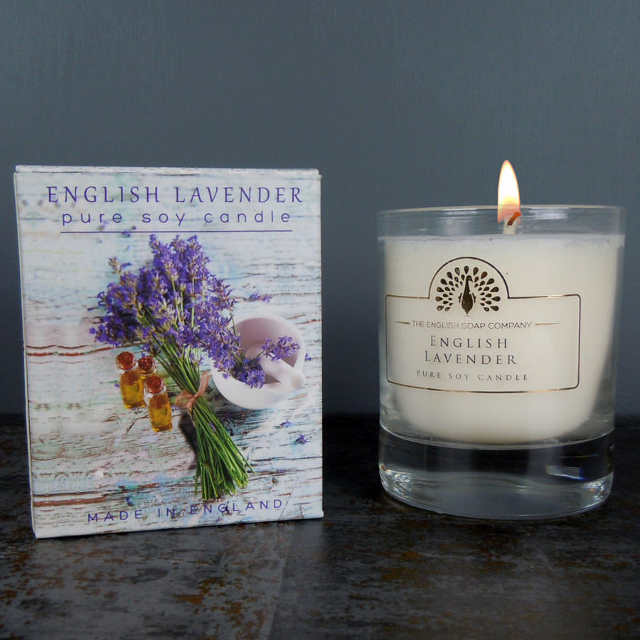 English Lavender pure soy candle