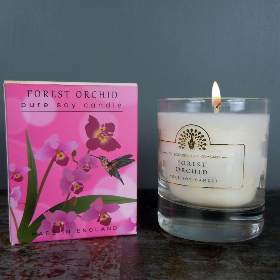 Forest Orchid pure soy candle