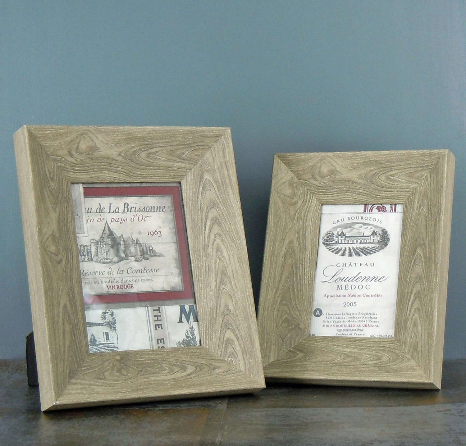 Grey washed wood Photo frame