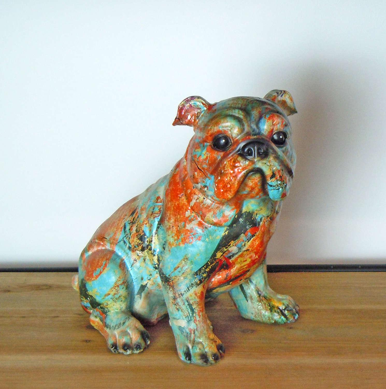 Multi coloured Bulldog