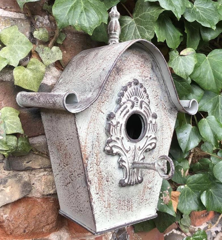 Metal hanging ornate Bird house