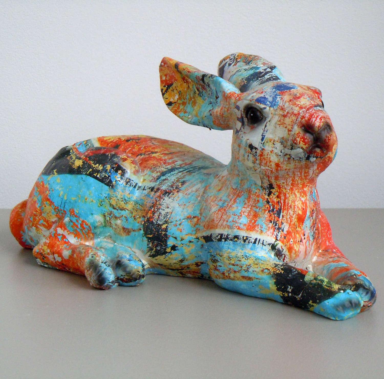 Multi coloured Hare
