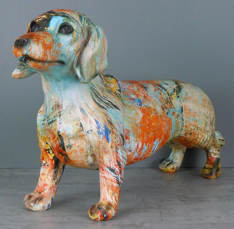Multi coloured Dachshund Dog