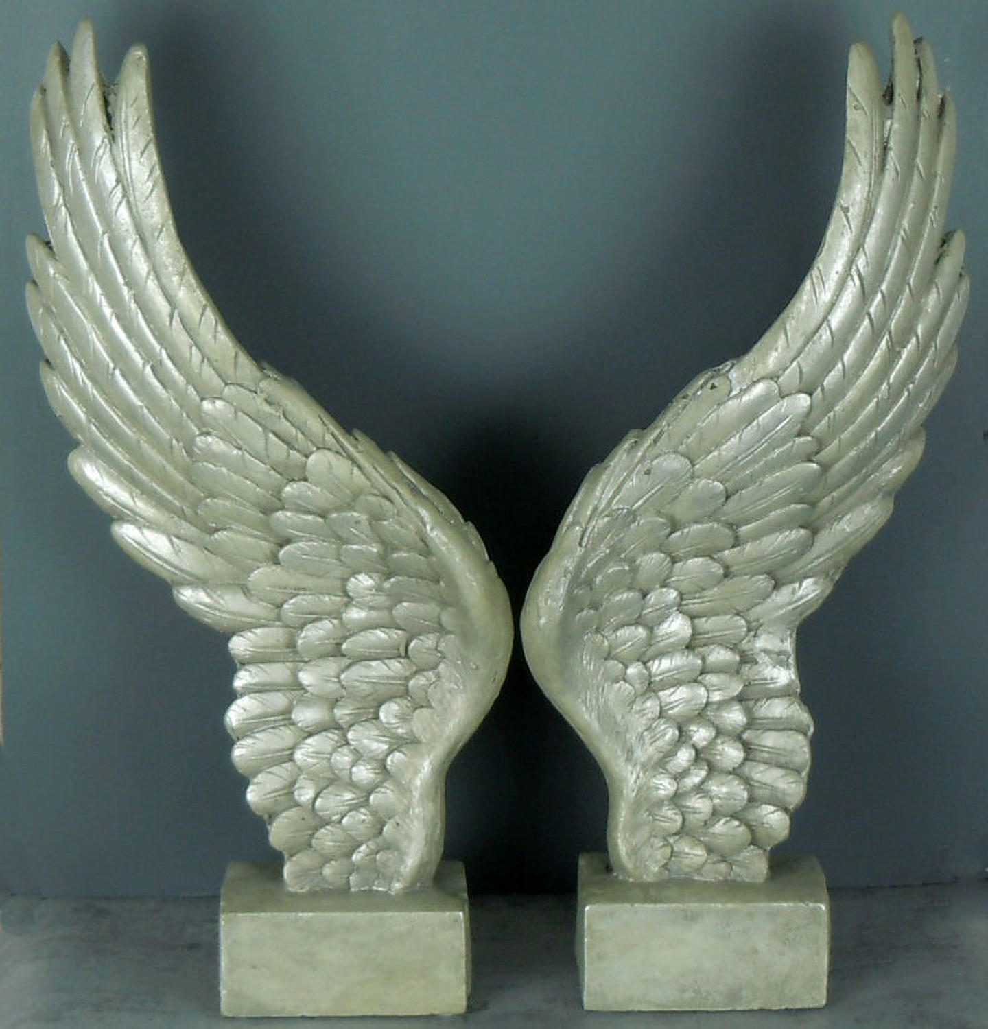 Antique Silver freestanding Angel wings