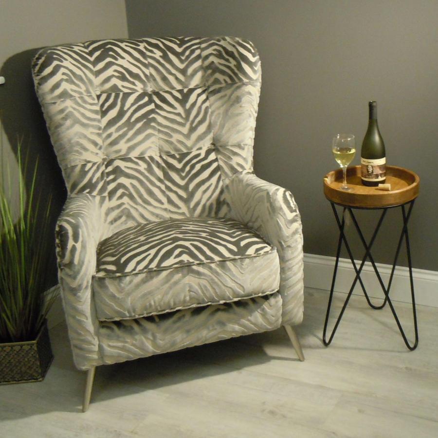 Merlin Accent chair in Kenya Silver