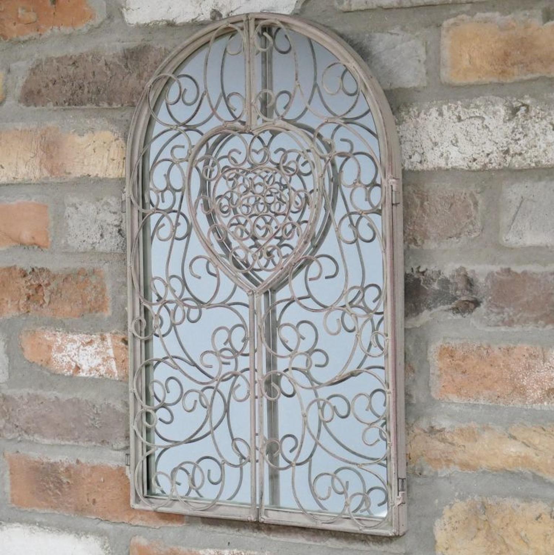 Metal Heart scroll shutter mirror