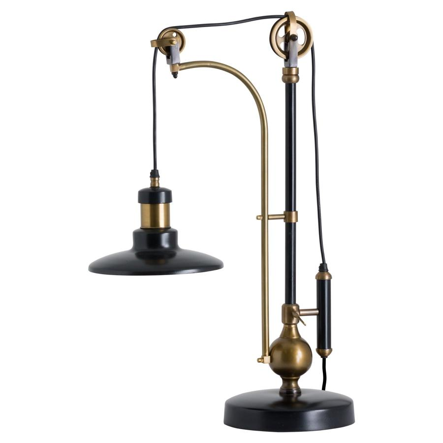 Industrial adjustable large table lamp