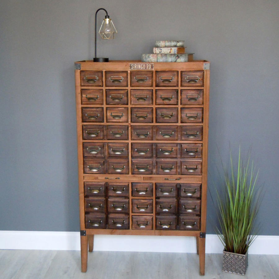 Multi drawer Apothecary cabinet