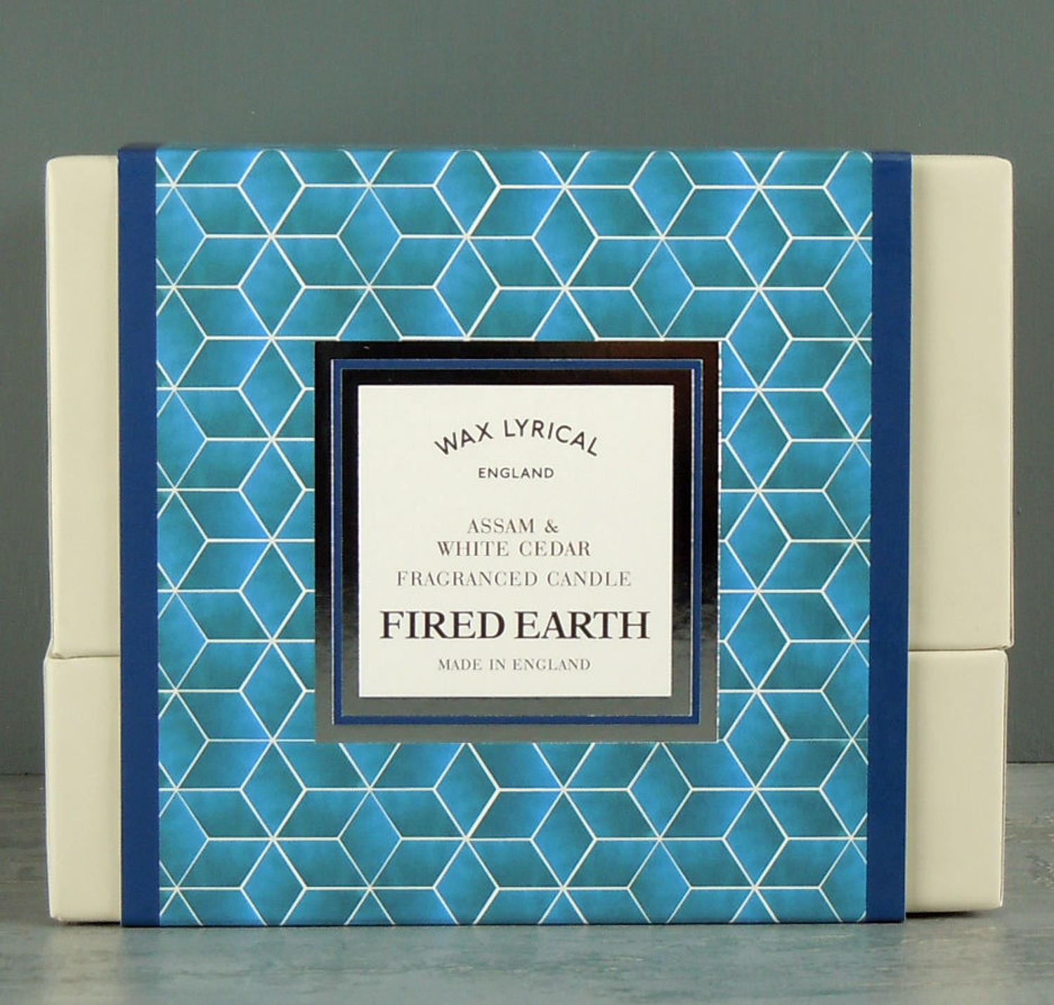Wax Lyrical Fired Earth Assam & White Cedar Ceramic twin wick Candle