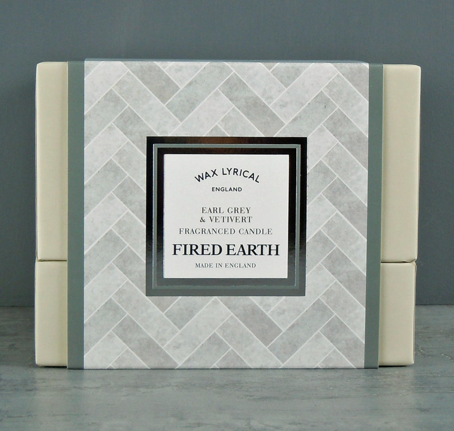 Wax Lyrical Fired Earth Earl Grey & Vetivert Ceramic twin wick Candle