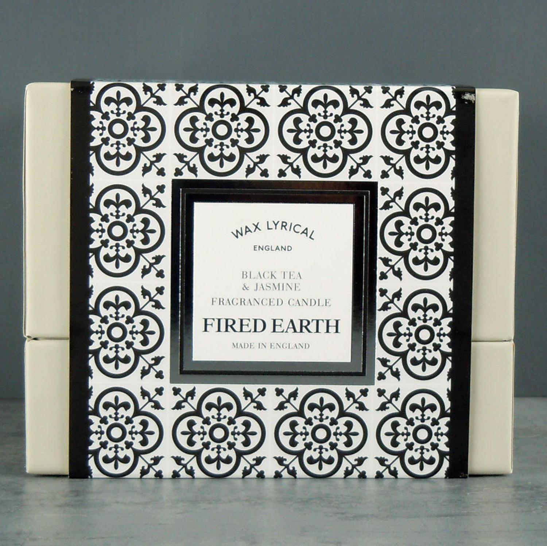 Wax Lyrical Fired Earth Black Tea & Jasmine Ceramic twin wick Candle