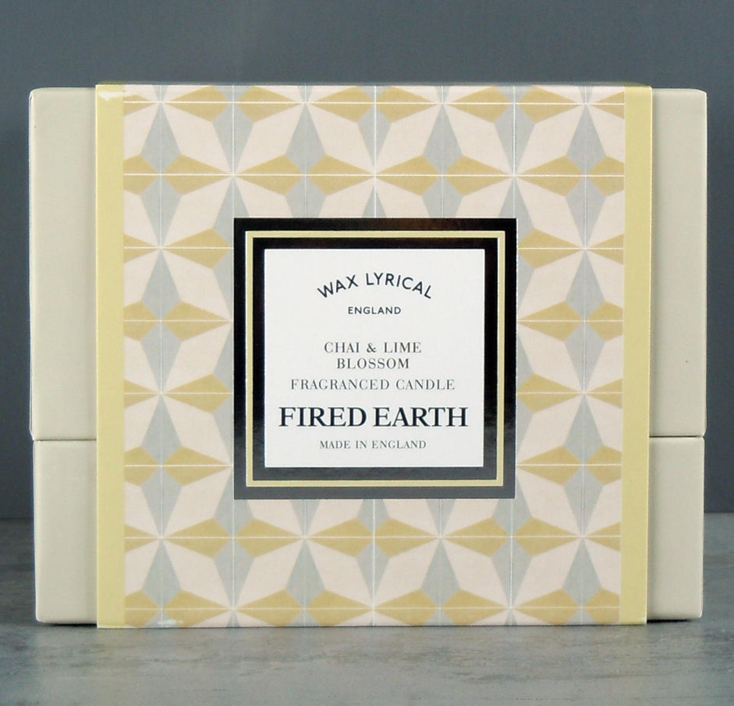 Wax Lyrical Fired Earth Chai & Lime Blossom Ceramic twin wick Candle