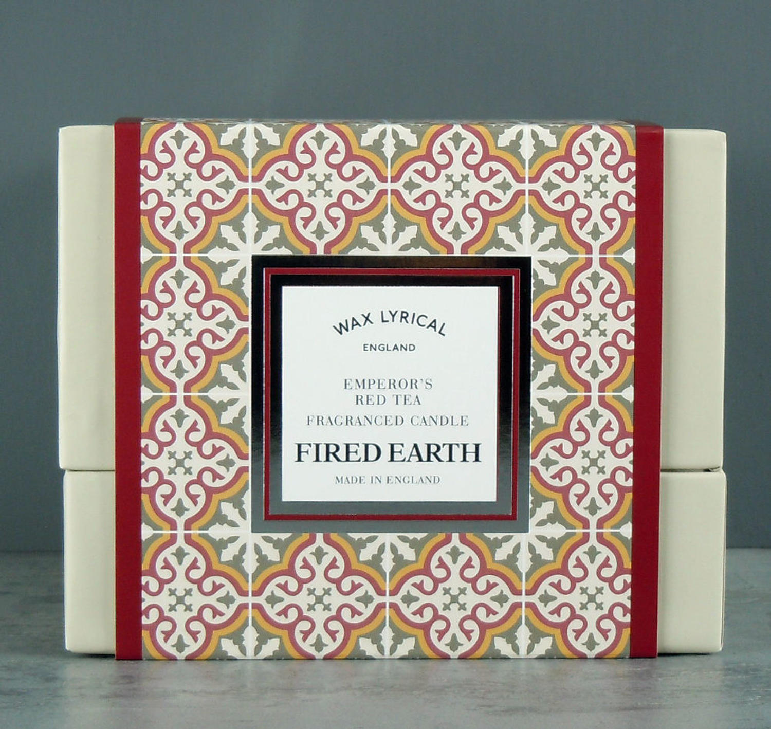 Wax Lyrical Fired Earth Emperors Red Tea Ceramic twin wick Candle