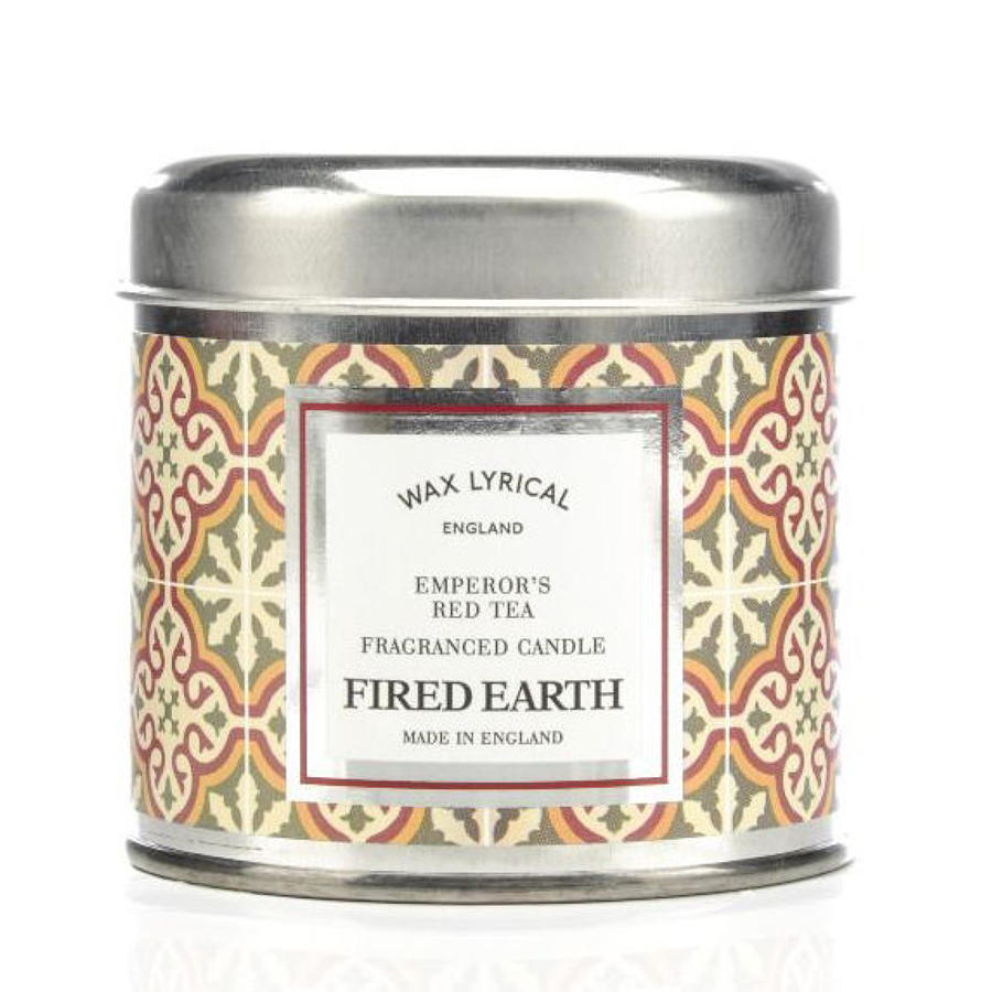 Wax Lyrical Fired Earth Emperor's Red Tea candle tin