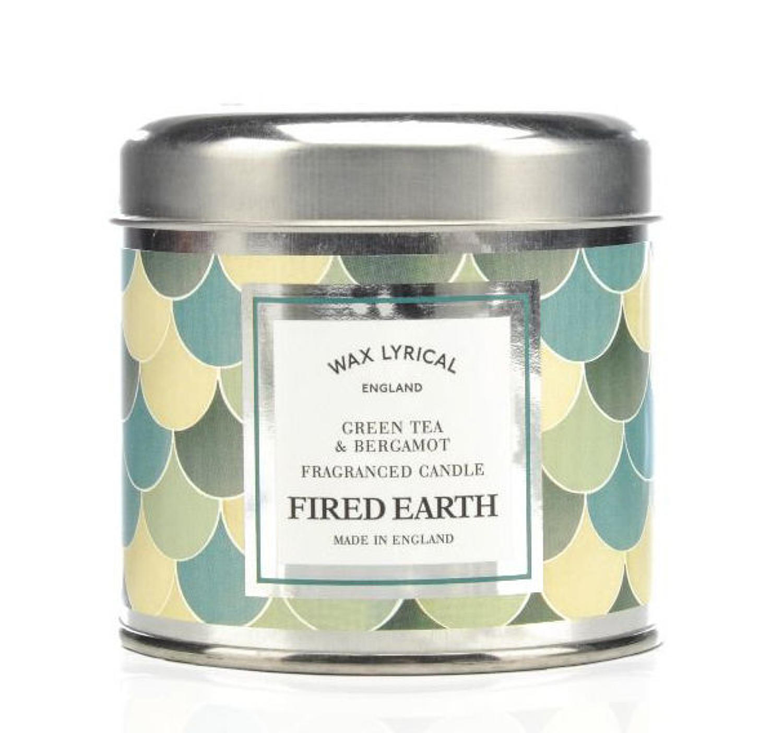 Wax Lyrical Fired Earth Green Tea & Bergamot candle tin
