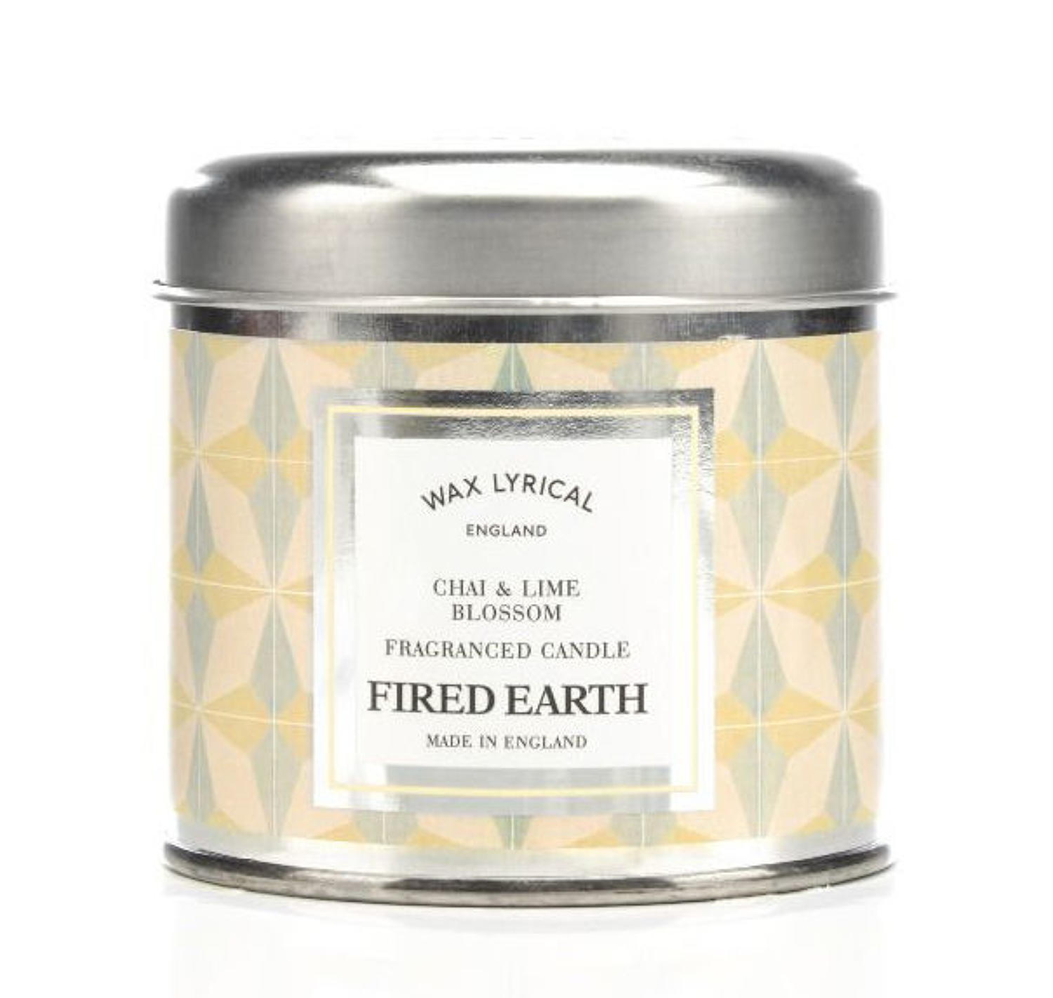 Wax Lyrical Fired Earth Chai & Lime Blossom candle tin