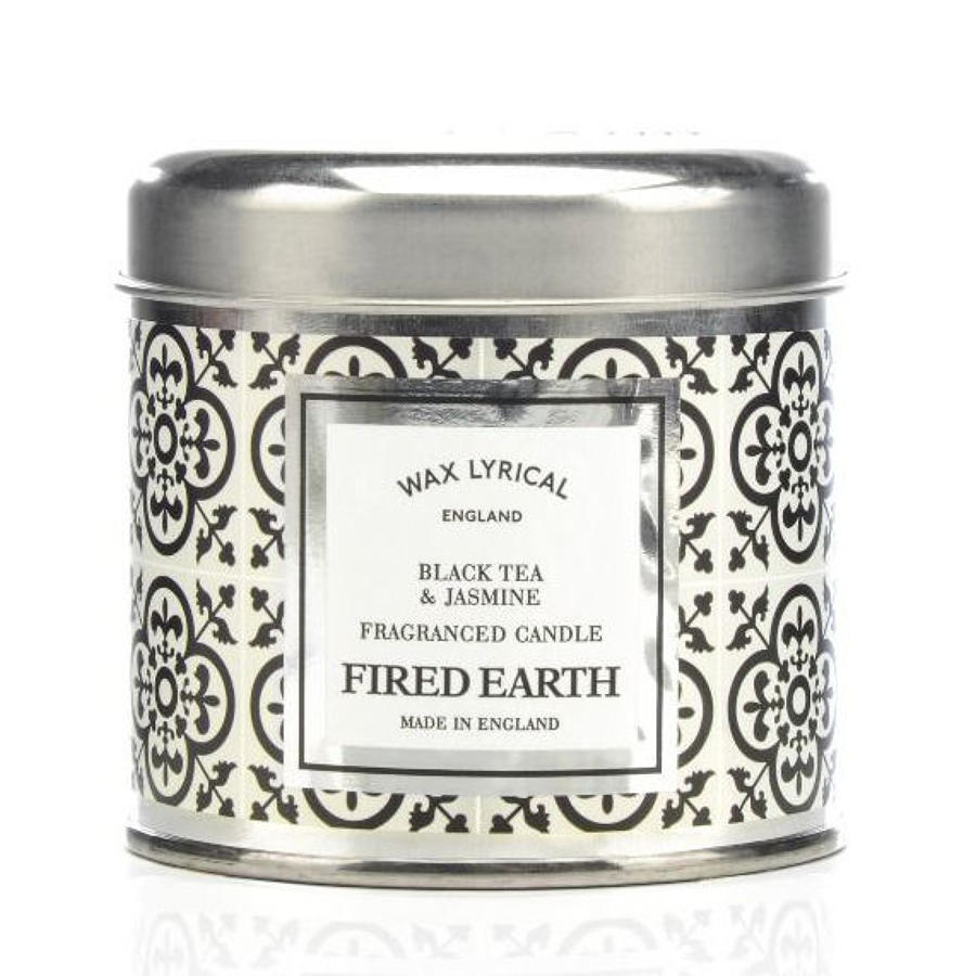 Wax Lyrical Fired Earth Green Black Tea & Jasmine candle tin
