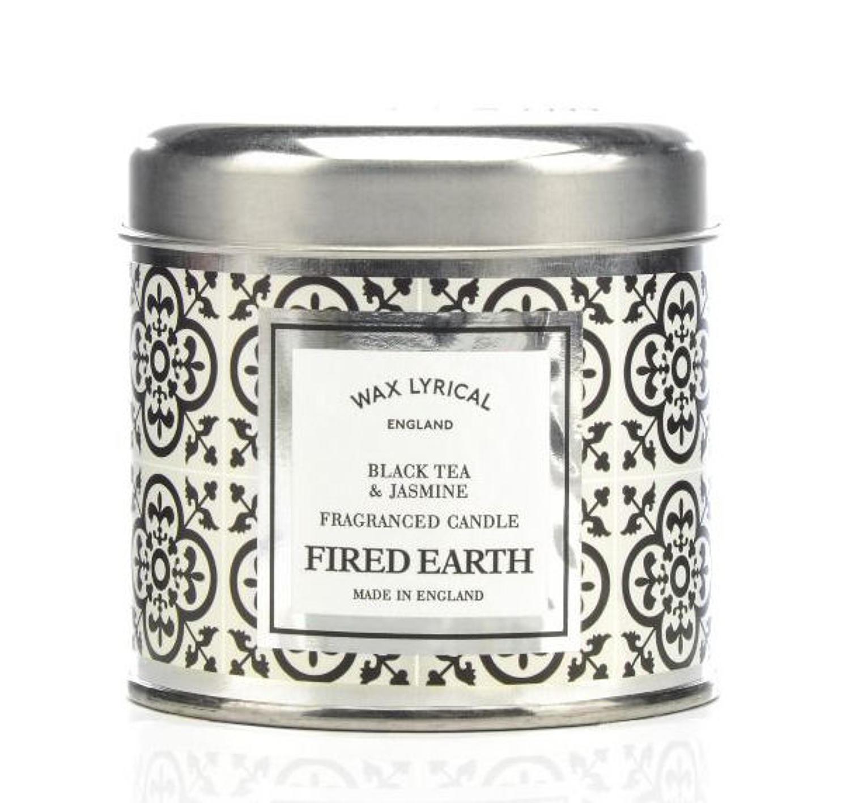 Wax Lyrical Fired Earth Green Black Tea & Jasmine candle tin