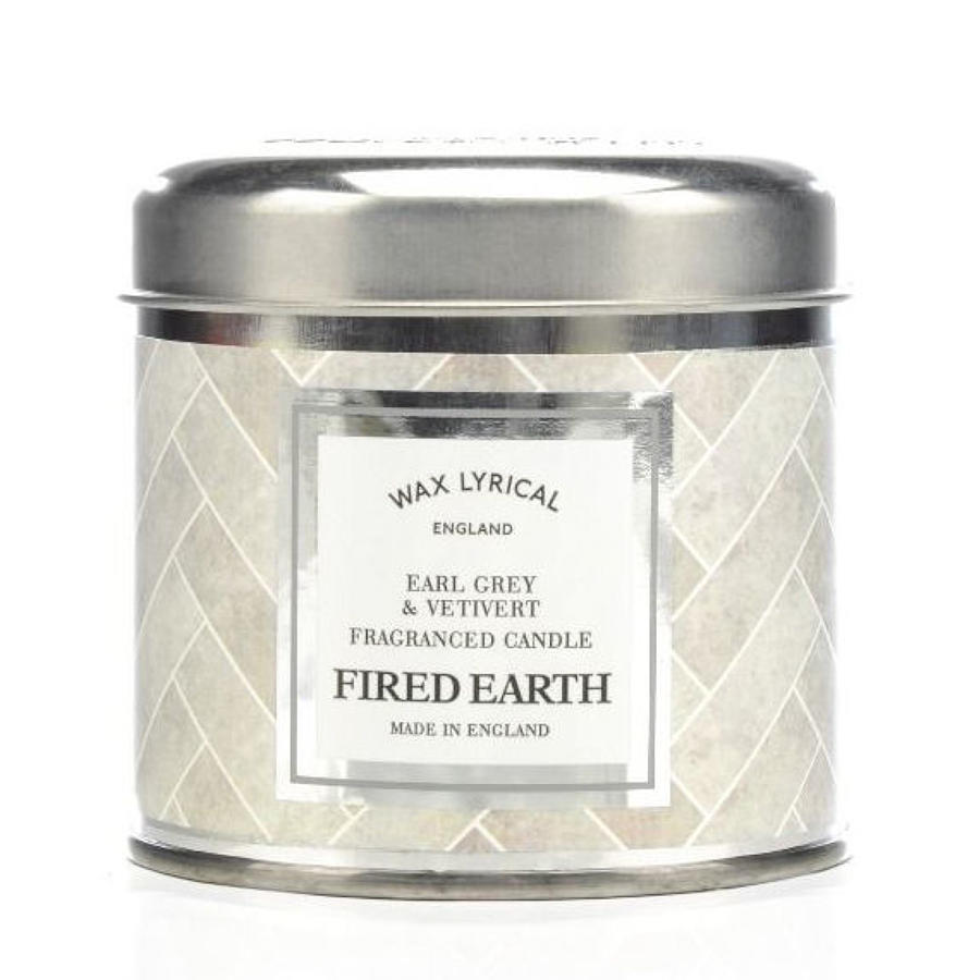 Wax Lyrical Fired Earth Earl Grey & Vetivert candle tin