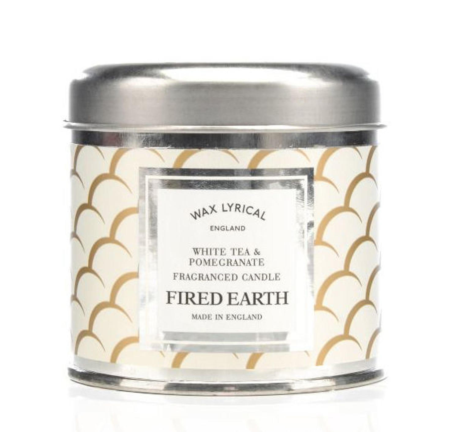 Wax Lyrical Fired Earth White Tea & Pomegranate candle tin