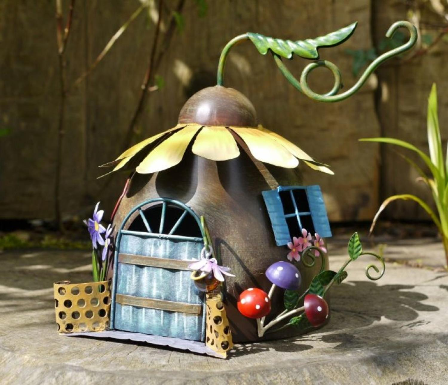 Metal Fairy Sunflower House