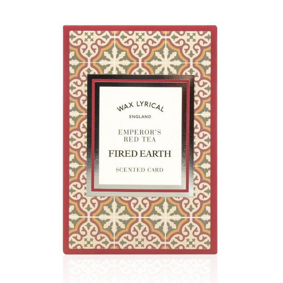 Wax Lyrical Fired Earth Emperors Red Tea scented polymer card