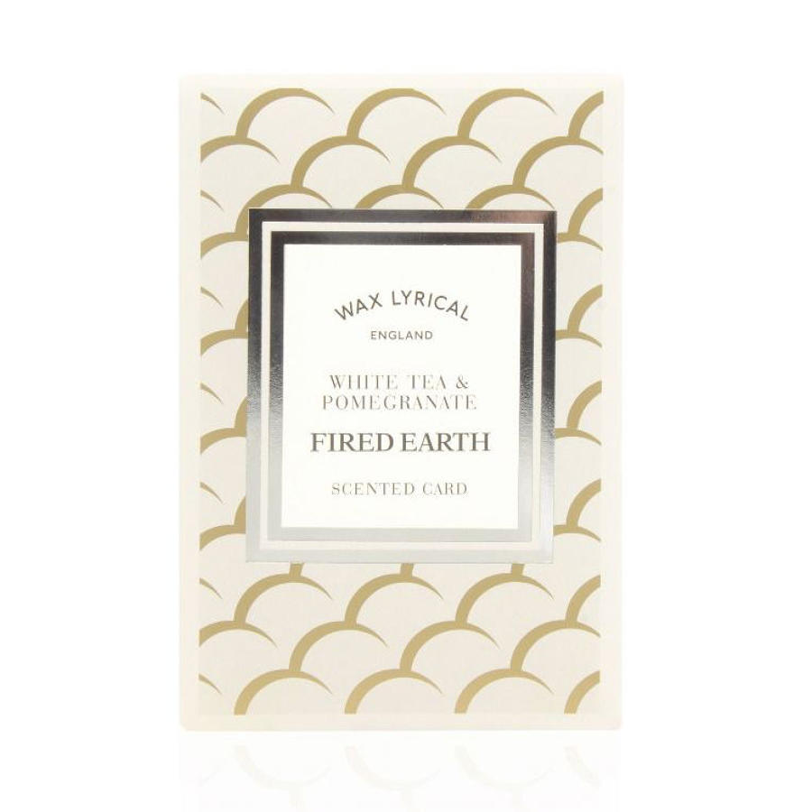 Wax Lyrical Fired Earth White Tea & Pomegranate scented polymer card