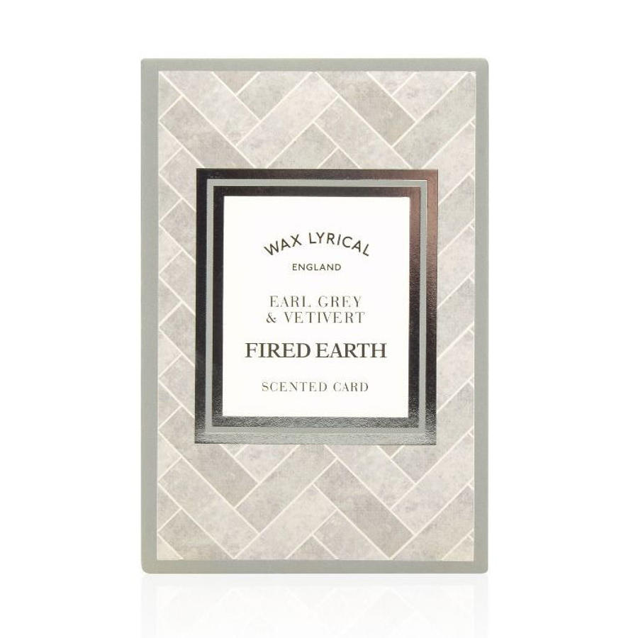 Wax Lyrical Fired Earth Earl Grey & Vetivert scented polymer card