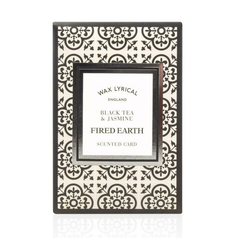 Wax Lyrical Fired Earth Black Tea & Jasmine scented polymer card
