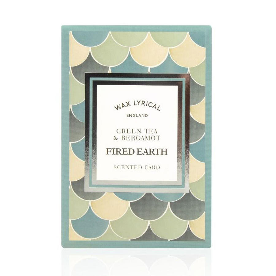 Wax Lyrical Fired Earth Green Tea & Bergamot scented polymer card