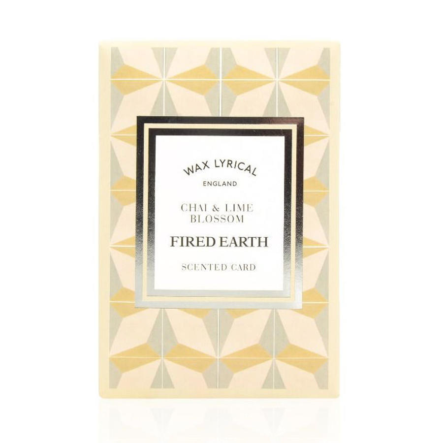 Wax Lyrical Fired Earth Chai & Lime Blossom scented polymer card